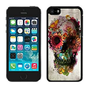 Gifts Art Skull Cool iPhone 5C Case Balck Cover