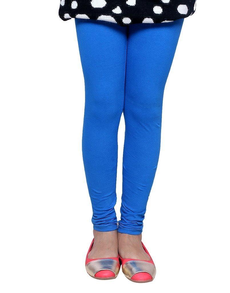 Indistar Little Girls Super Soft Cotton Leggings Set Of -3