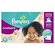 Pampers Cruisers Disposable Diapers Size 6, 144 Count (Packaging May Vary)