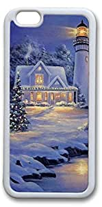 iPhone 6 Cases, Christmas Night Personalized Custom Soft TPU White Edge Case Cover for New iPhone 6 4.7 inch