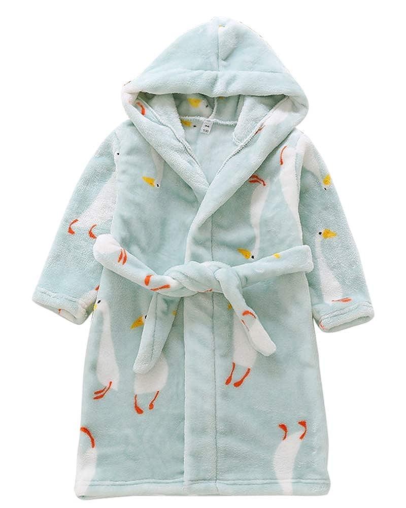 PengGengA Childrens Kids Bathrobe Hooded Dressing Gown Comfortable Nightwear Sleepwear