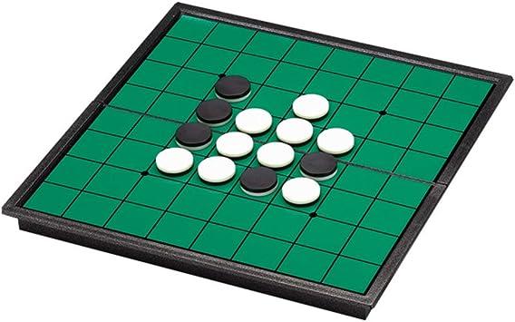 NUOBESTY Juego de Mesa de Estrategia Reversi Othello con Tablero Magnético Plegable Y Piezas para El Hogar Y Los Viajes: Amazon.es: Juguetes y juegos