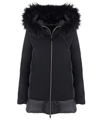 Rrd Piumino Nero Winter Hybrid Zar Lady Fur T 48: Amazon.it