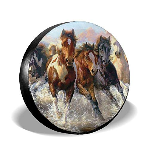 Spare Tire Cover American Flag Eagle Waterproof Dust-proof Universal Wheel Tire Cover for RV Jeep Wrangler Trailer Campers and Many Vehicle 14