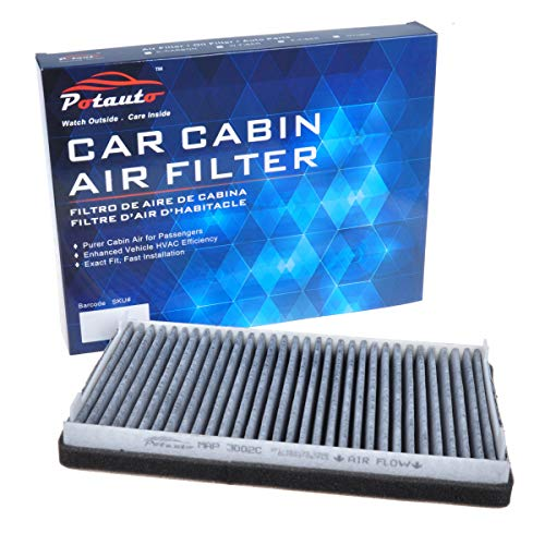 POTAUTO MAP 3002C (CF10137) Replacement Activated Carbon Car Cabin Air Filter for for, Escape, MAZDA, Tribute, MERCURY, Mariner(Upgraded with Active Carbon)