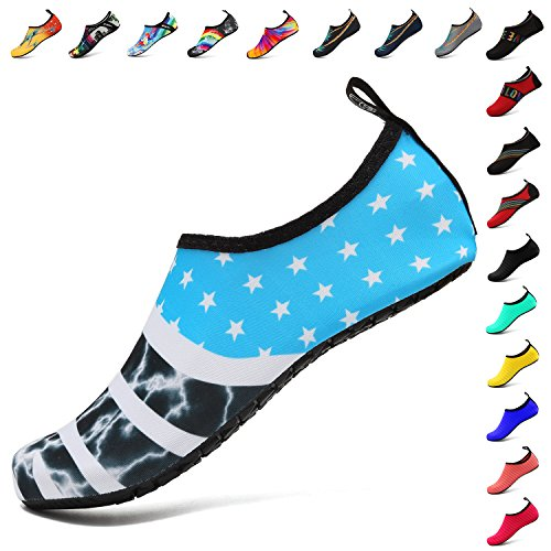 Barefoot Aqua Quick Slip Outdoor Water Swim for Dry Flagblue Womens SOVIKER Beach Exercise Mens Shoes Yoga On Surf qRvUnX
