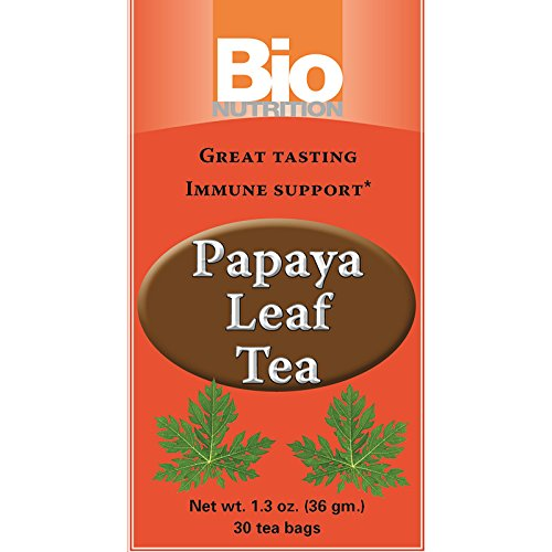 Bio Nutrition Papaya Leaf Tea Bags, 30 Count