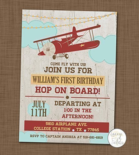 Amazon Airplane Birthday Party Invitations With Envelopes