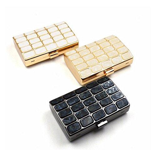 Uzanesx Messenger Per Tracolla Pranzo Gold color Borsa Con Da Acrilico Black In 8048Bqgwr