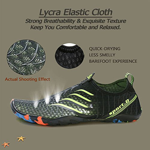 Mens Dry Yoga Voovix Water Socks Black Swim Quick Shoes white Beach Womens Barefoot Aqua ZUU41X5n