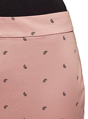oodji Tissu Mini Femme Coton en Rose 4a29o Ultra Jupe de Z7ZCFqRx
