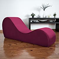 Liberator Chaise Lounge Yoga Chair - Merlot Micro-velvet