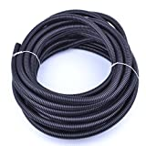 split electrical cord - pranovo 30 ft Dog Cat Cord Protector Cable Protect Electric Wires Covers Long Split Wire Loom Tubing Prevent Chewing for Dog Cat Puppy Kitten Pet Rabbit