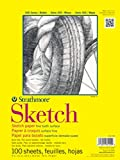Strathmore 350-6 300 Series Sketch Pad, 5.5''x8.5'' Wire Bound, 100 Sheets