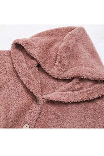 Pelo Teddy Di Rosa Donne Irregolare Finto Sevozimda Cappotti Le Felpa Giacche Outcoat Outwear Fuzzy xIqZwUHan