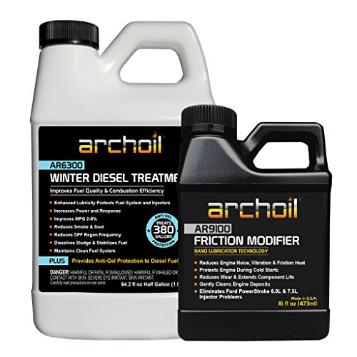 Archoil Winter Diesel Kit – 64.2oz AR6300 Winter Diesel Treatment + 16oz AR9100 Friction Modifier