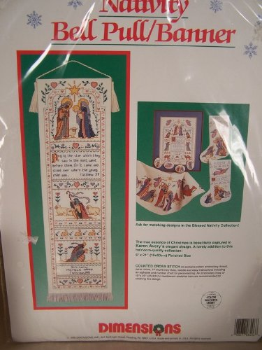 Dimensions Nativity Bell Pull / Banner Counted Cross Stitch Kit Banner Counted Cross Stitch