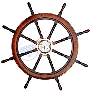 519CBI%2BgroL._SS300_ Best Ship Wheel Clocks