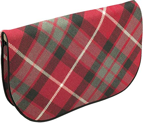 Bag Pocket Red Large Inside Clutch Leather With and With Tartan Back Fraser PXqEpqw