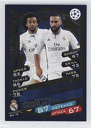 b2722e6cb8b Amazon.com  Marcelo  Dani Carvajal (Trading Card) 2016-17 Topps Match Attax  UEFA Champions League - Real Madrid  RM 18  Collectibles   Fine Art