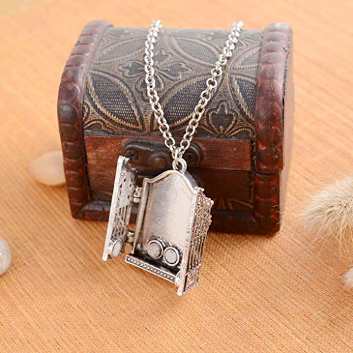 (Woman Men Gothic Photo Frame Book Pendant Locket Chain Necklace Jewelry Gift Necklace Jewelry Crafting Key Chain Bracelet Pendants Accessories Best)