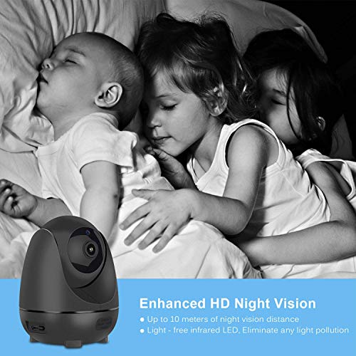 OPTJOY Home Camera Wireless Security Camera 1080P WiFi IP Camera Baby Camera Monitor Indoor Surveillance Camera Auto Night Vision Motion Tracker Two-Way Audio Pan/Tilt/Zoom Home iOS/Android APP, Free