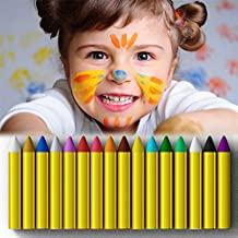 Crayons Face Painting Makeup Sticks Clown Makeup Non-Toxic Halloween Kids/ Child Christmas Gift Dress up for Baby by JamBer(16pack)