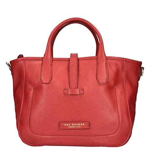 Soft Bridge The cuir cm Shopper Ribes 31 Rosso Plume Donna EqdwW7PAd