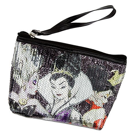 Disney Store Villains Cosmetic Bag Tote Evil Queen Ursula & Queen of Hearts (Queen Of Hearts Shoes)