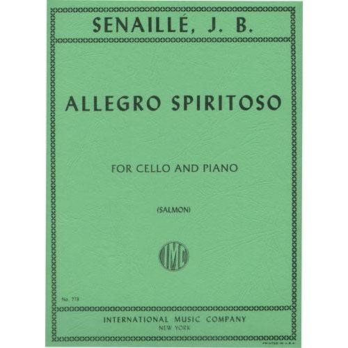 Senaille - Allegro Spiritoso For Cello and piano Published by International Music Company