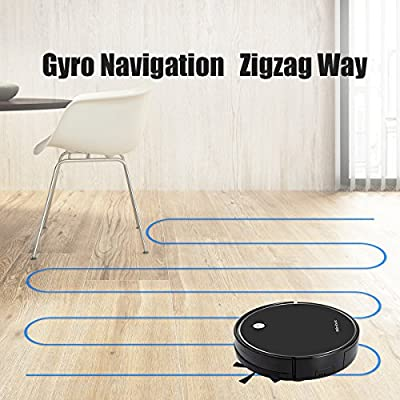Minibot Robotic Vacuum and Mop Cleaner,Super Power Suction,Self-Charging for Pet Hairs,Hard Surface Floors & Thin Carpets