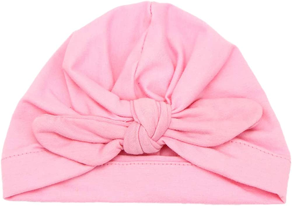 Lubier Baby Girl Model Hat Cute Elastic Headband Headwraps Bunny Ears Hair Holder Band Knotted Wrap Size 1 Rose