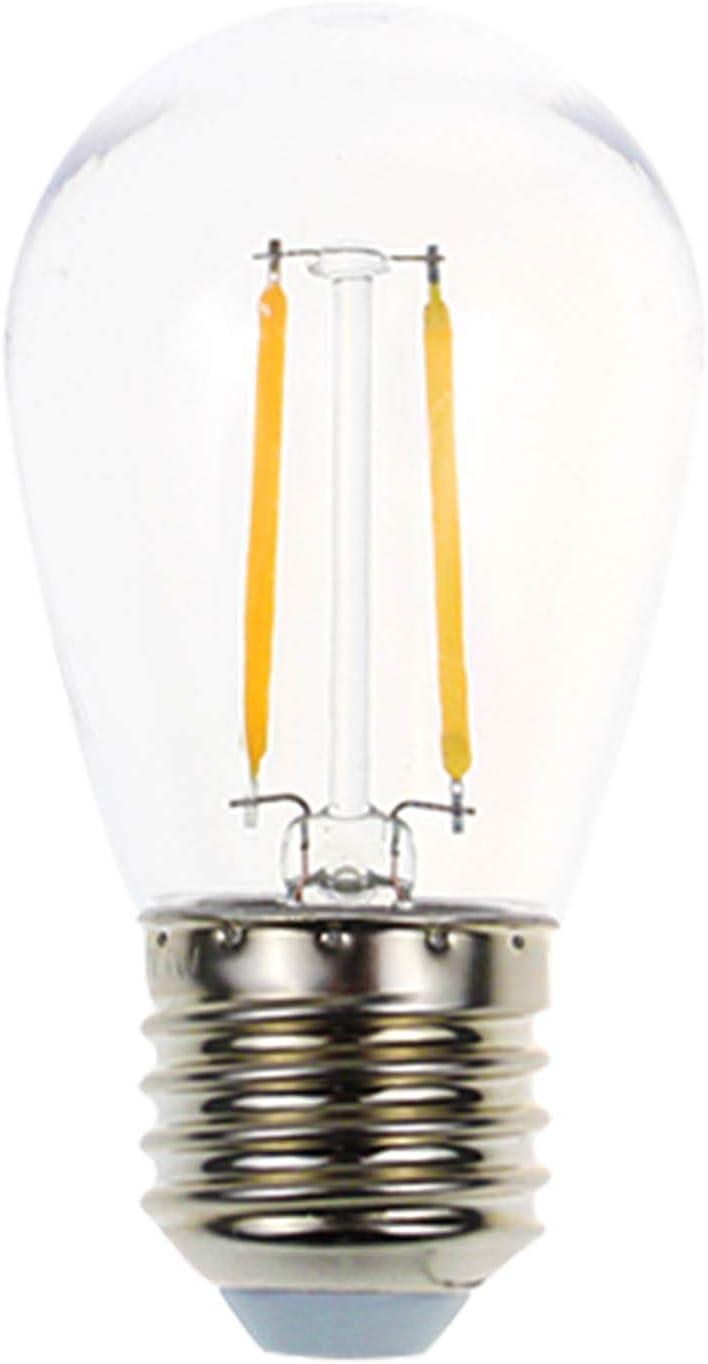 Shatterproof & Waterproof S14 Replacement LED Light Bulb,2W White Warm 2200K Outdoor String Lights Vintage LED Filament Bulb, E26 Base Edison LED Light Bulb