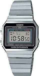Casio Collection A700WE - Reloj Digital para Mujer con Correa de Acero Inoxidable