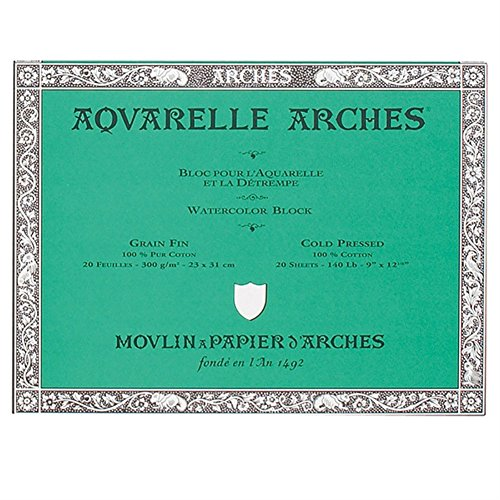 Arches Aquarelle Watercolor Block 140 lb. cold press 7 in. x 10 in.