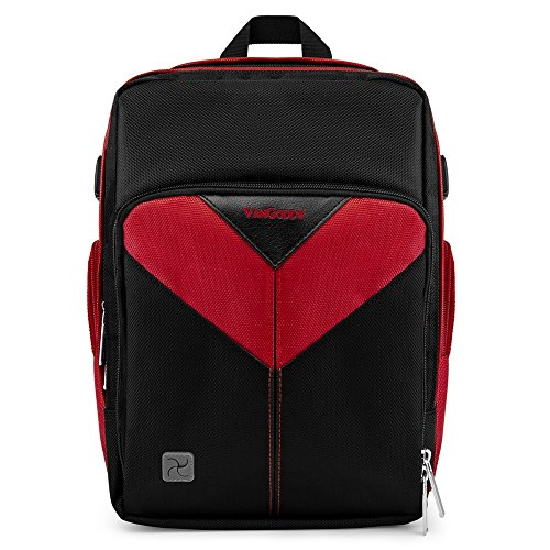 Shock Proof Multipurpose Red Medium Equipments Backpack for Nikon DSLR Camera