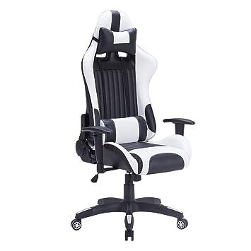 Ergonomischer bürostuhl weiß  IMWH Racing Hochwertiger Bürostuhl Gaming Stuhl,Ergonomischer ...