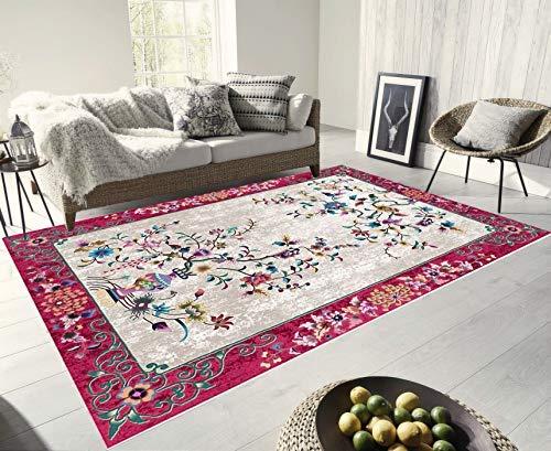 Turkish Carpet Designs - Turkish Area Rugs Living Room - Carpets Persian Design Printed Rugs Soft, Comfortable Premium Quality Material (5'11''x9'3'') (Jordy Blue)