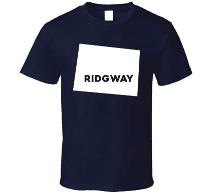 34c339ea843 Amazon.com  Ridgway Colorado City Map USA Pride T Shirt  Clothing