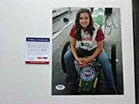 Ashley Force Hot! signed NHRA drag racing John 8x10 photo PSA/DNA cert by Authenticated-ink