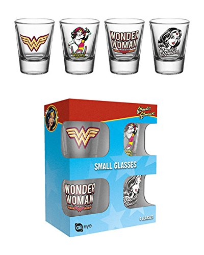 Wonder Woman - 4 Piece Shot Glass / Shooters Set (Shot Glasses)