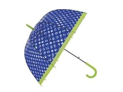 Paraguas SeÑora 81cm Automatico Transparente Lunares Surtido A Elegir 1