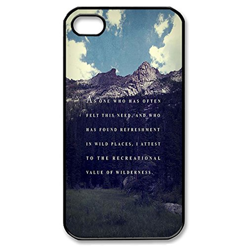 Novel Style Bible Verse Printed Case Cover for iphone 4 4s 4G - Hard Back Designer Case Protector Black 20728