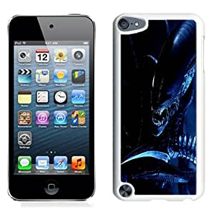 Fashion Custom Designed Cover Case For iPod 5 Alien Scary White Phone Case