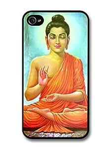 AMAF ? Accessories Buddha Siddhartha Gautama Praying In The Jungle Tibet Buddhism case for iPhone 4 4S