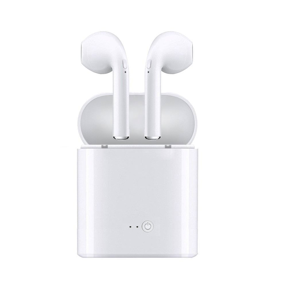 Wireless Headphones Bluetooth Earbuds Earpiece - Stereo Headsets- Mini Cordless Hands Free Earphones - for Apple AirPods iPhone Samsung Windows Android Smartphones - with Charging Case Station