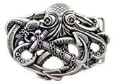Search : Punk Pirate Octopus Kraken Boat Anchor Antique Silver Belt Buckle