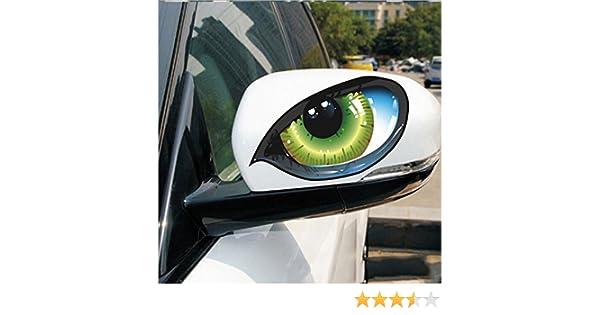 2 unds Pegatina vinilo ojos verdes para retrovisores coches cascos motos ciclomotores bicicletas de OPEN BUY