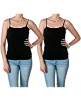 Hollywood Star Fashion Women's Semi-Crop Cami Tank Top
