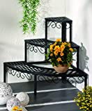 FRESH AIR FOREVER 3 Tier Plant Modern Metal Stand Rack for Displaying Plant or Multi Flower Pot